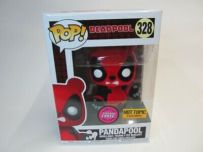 Funko POP Marvel Hot Topic Exclusive Chase FLOCKED PANDAPOOL Figure #328