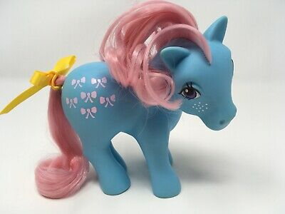 Vintage My Little Pony G1 MLP ~ BOWTIE ~ Long/ Curly Hair Variant