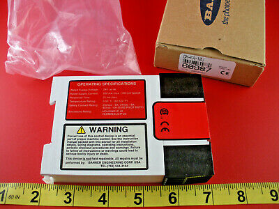 Banner GM-FA-10J Safety Relay Gate Monitoring Module 60987 GMFA10J 24v ac/dc New