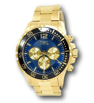 Invicta Specialty 25756 Men's Blue Dial Gold-Tone Chronograph Watch 45mm