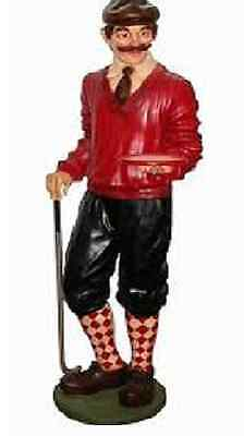 6.5ft Golfer-Sports figurine Golf with serving tray