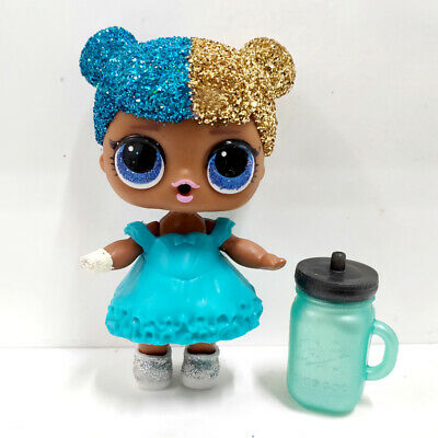 lol surprise doll Big Sister Glitter Gold Hair Blue Dress Girls Birthday Gift
