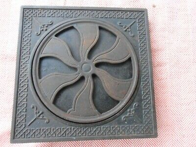 Antique Cast Iron Square Ornate  Floor Register Grate Vent Cover