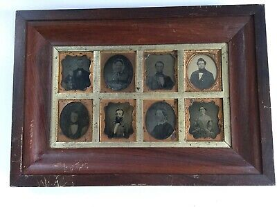 Rare Family Grouping of Ambrotypes VIOLIN PLAYER Ambrotype Photos Period Frame