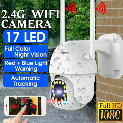 17 LED 5X ZOOM Network Webcam 32GB TF Card HD 1080P 2.4G WiFi Security IP Camera