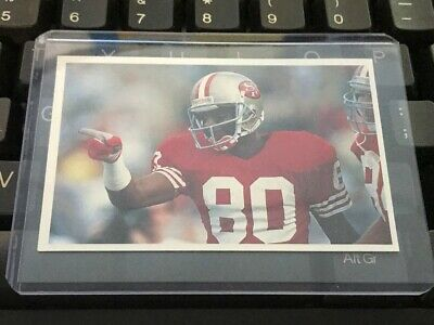 Nfl - Jerry Rice - San Francisco 49Ers -  Question Of Sport - Rare