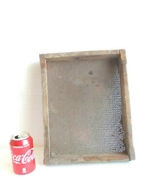 """13"""" x 10.62"""" ANTIQUE handcrafted sieve / screen / sifter > PRIMITIVE farm tool"""