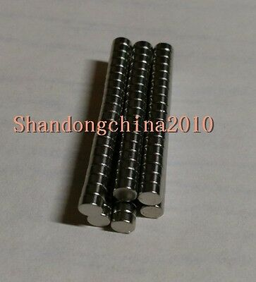 Lot 100 N35 Super Strong Neodymium Disc Mini 4 X1.5mm Rare Earth Strong Magnets