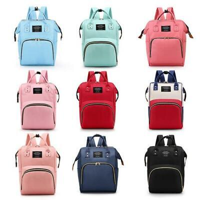 Baby Diaper Nappy Mummy Changing Bag Backpack Set Multi-Function Hospital Bag UK