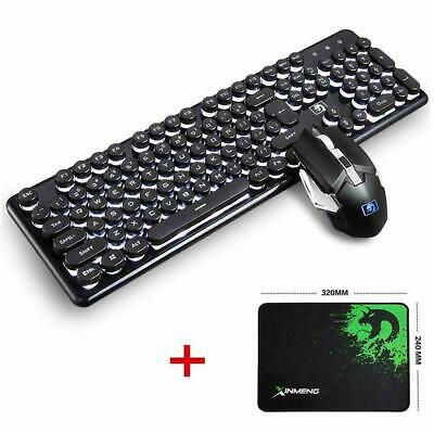 Wireless Gaming Keyboard and 2400DPI Mouse Combo Rechargeable LED Backlit AU