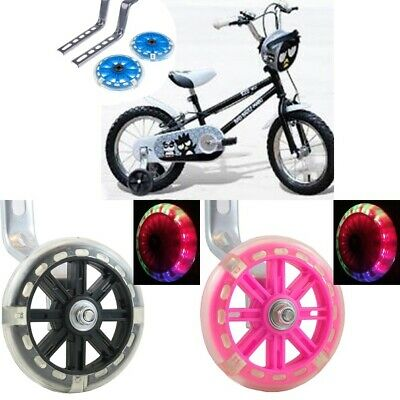 "12"" - 20"" Universal Kids Bicycle Bike Training Wheels Stabilisers LED Flashing"