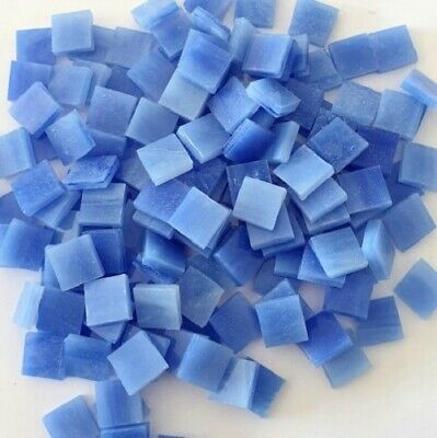 Stained Glass Opaque Squares 10x10mm - French Blue- 100 grams