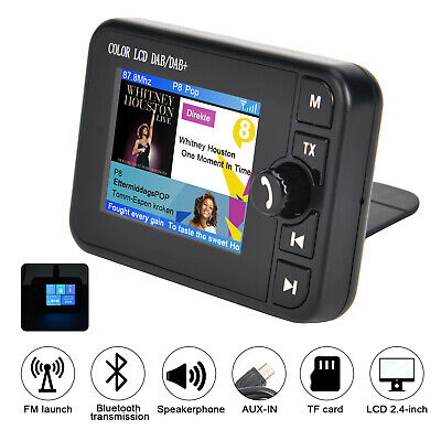 "2.4""Car DAB+Autoradio Adapter FM Transmitter Bluetooth Musik DAB Radio EmpfäNger"