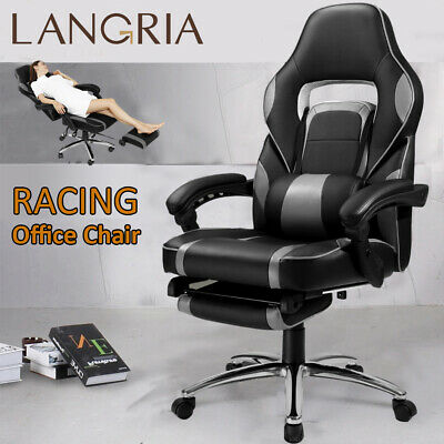 HighBack Swivel Leather Office Racing Gaming Style Computer Desk Reclining Chair