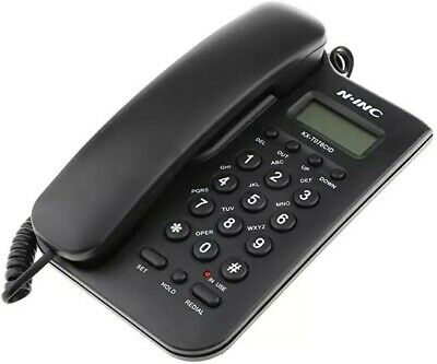 Landline Phone black hardly used in as new condition