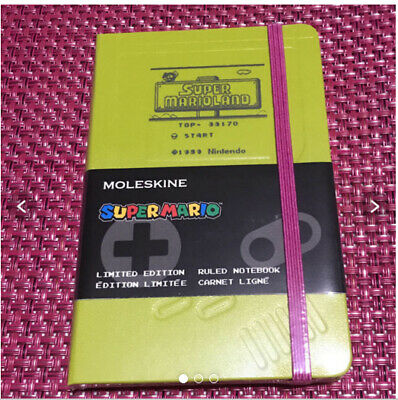 Super Mario Limited Edition Notebook Pocket Hard Cover Ruled MOLESKINE