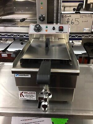 10 Litre Single Tank Electric Chip Chips Fryer Table Top With Tap + Safety Stat
