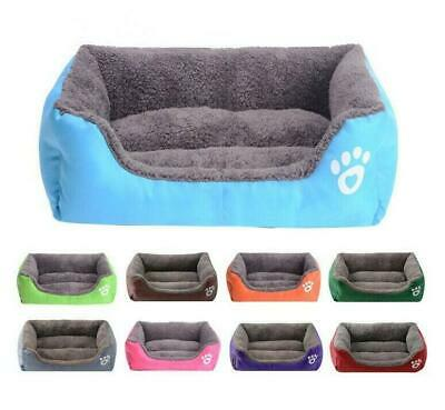 Pet Dog Cat Calming Bed Warm Soft Plush rectangle Cute Nest Comfortable Sleeping