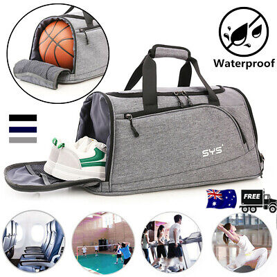 Men Women Shoes Handbag Nylon Gym Shoulder Bag Sports Luggage Duffel Weekender