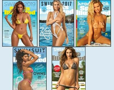 New Mens Magazine Bundle SPORTS ILLUSTRATED SWIMSUIT EDITIONS x 5 emailed on PDF
