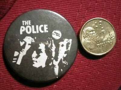 THE POLICE Vintage 1980's Pin Badges