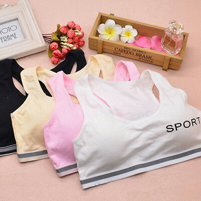 Kids Girls Underwear Bra Vest Underclothes Sports Undies Clothe KW