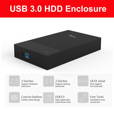 3.5' MR35T HDD Enclosure USB 3.0 to SATA Hard Drive Storage Case For Notebook PC