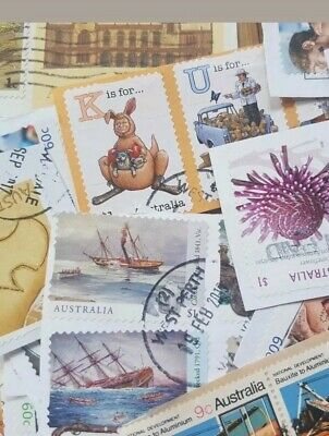 150+ Australian used MOSTLY High Value Inc 5 (FIVE) x $1 stamps kiloware bulk