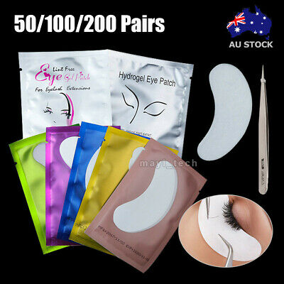 50/100/200 Pairs Under Eye Curve Eyelash Pads Gel Patch Lint Free Lash Extension