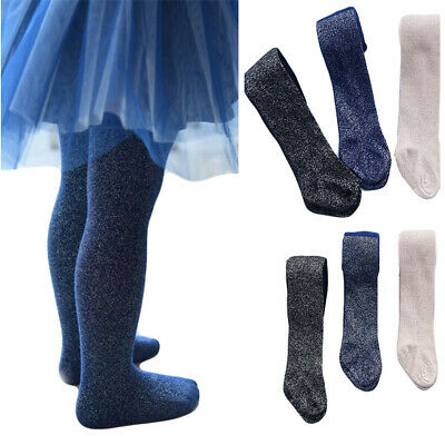 Toddler Baby Kids Girls Shiny Glitter Tights Soft Elastic Pantyhose Dance Pants