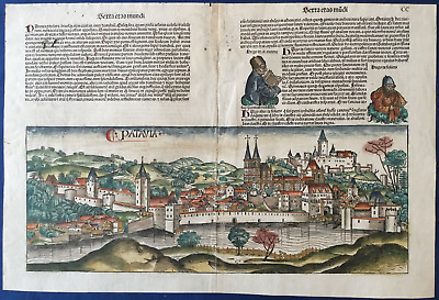 City view PASSAU, Nuremberg Chronicle 1493 - Liber chronicarum, Schedel, Germany