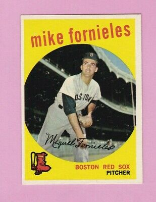 1959 Topps Baseball Card #473 Mike Fornieles Single Original BOS Red Sox Pitcher