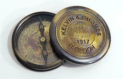 1917 Kelvin & Hughes London Brass Compass