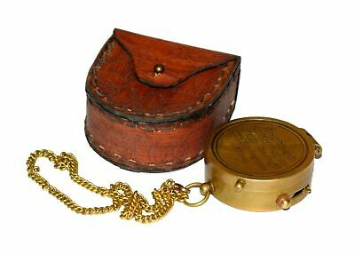 Go Confidently Brass Nautical Navigational Compass W/Leather Case Christmas gift