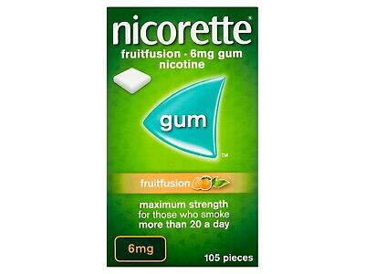 Nicorette Gum Fruitfusion 6mg of 105  Pack 3