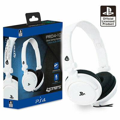 PS4 Gaming Chat Headset with Mic WHITE Officially Licensed PRO4-10 (PS4 & Vita)