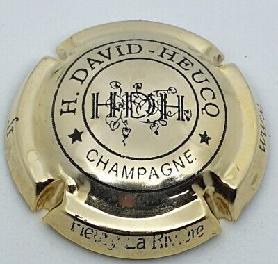 capsule champagne DAVID HEUCQ plaquée or HDH