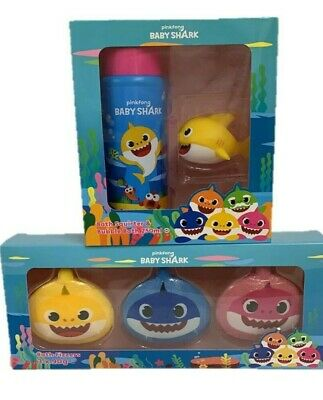 Baby Shark Duo Set Kids Pinkfong Bath Fizzer Bubble Squirter Christmas Present