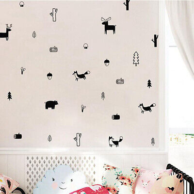 Animals Home Decoration Wall Art Wall Stickers Woodland Mural  Modern Decals