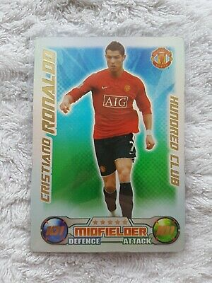 Match Attax Cristiano Ronaldo Hundred 100/101 Club Manchester United 1st Class