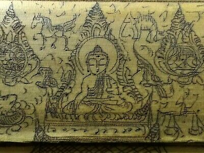 Burmese Buddhist Palm Leaf Manuscript Prayer Book Myanmar