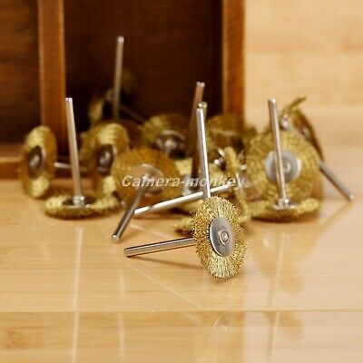 UK SHIP 20pc 25mm Brass Wire Polishing Wheel Brush Rotary Tool For Grinder Drill