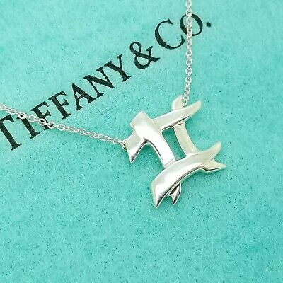 Tiffany & Co. Sterling Silver Paloma Picasso Hashtag 16' Chain Pendant Necklace