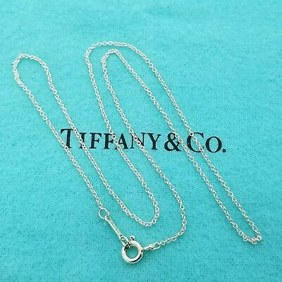 Tiffany & Co. Paloma Picasso 16' Inch Necklace Sterling Silver 1mm Link Chain