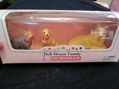 1996 Horsman Doll House Family Dog Set 3 Dogs New in Box