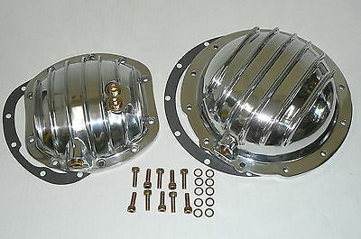 JEEP CJ7 CJ6 CJ8 Polished Aluminum F & R Differential Covers Dana 30 AMC 20  Set