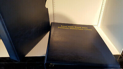 (Lot 349) ROYAL MAIL  PHILATELIC NUMISMATIC COVERS STAMP ALBUM 11 PAGES SLIPCASE