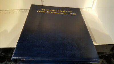 (Lot 349) ROYAL MAIL  PHILATELIC NUMISMATIC COVERS STAMP ALBUM 10 PAGES