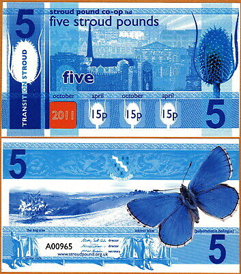 United Kingdom - Stroud £5 5 Pounds 2011 UNC Local Currency Banknote