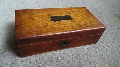 Antique Victorian / Edwardian Small Desk Top Box With Lock